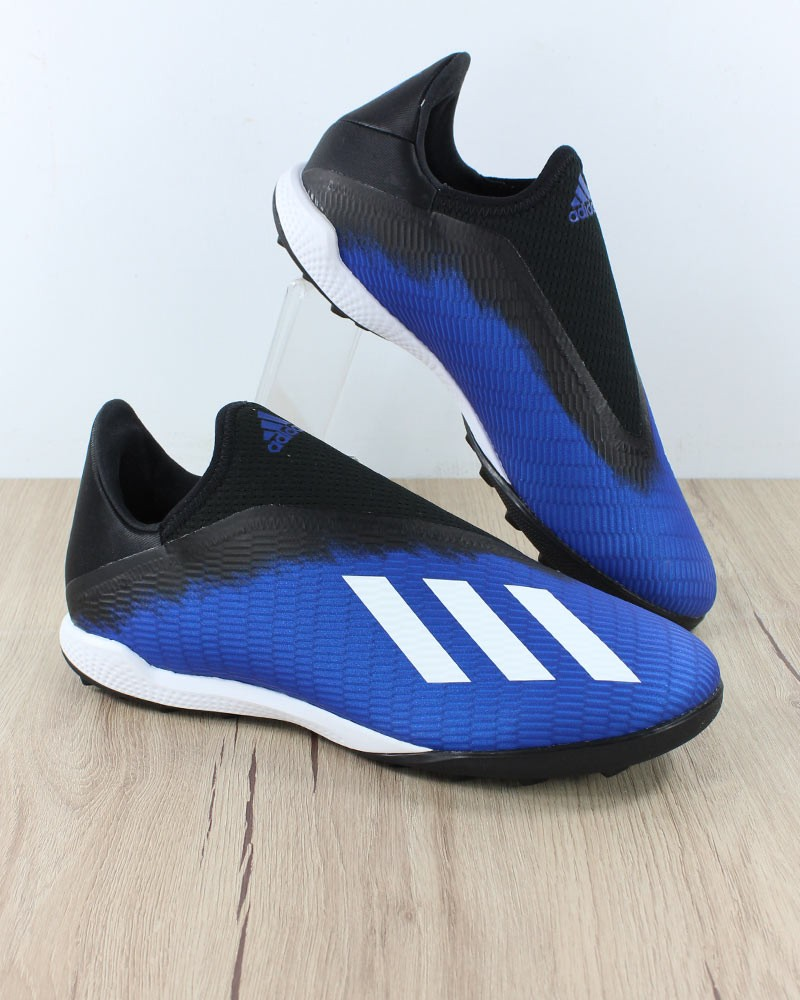 Adidas Scarpe Calcio Football X 19.3 Laceless Blu Calcetto Turf 0