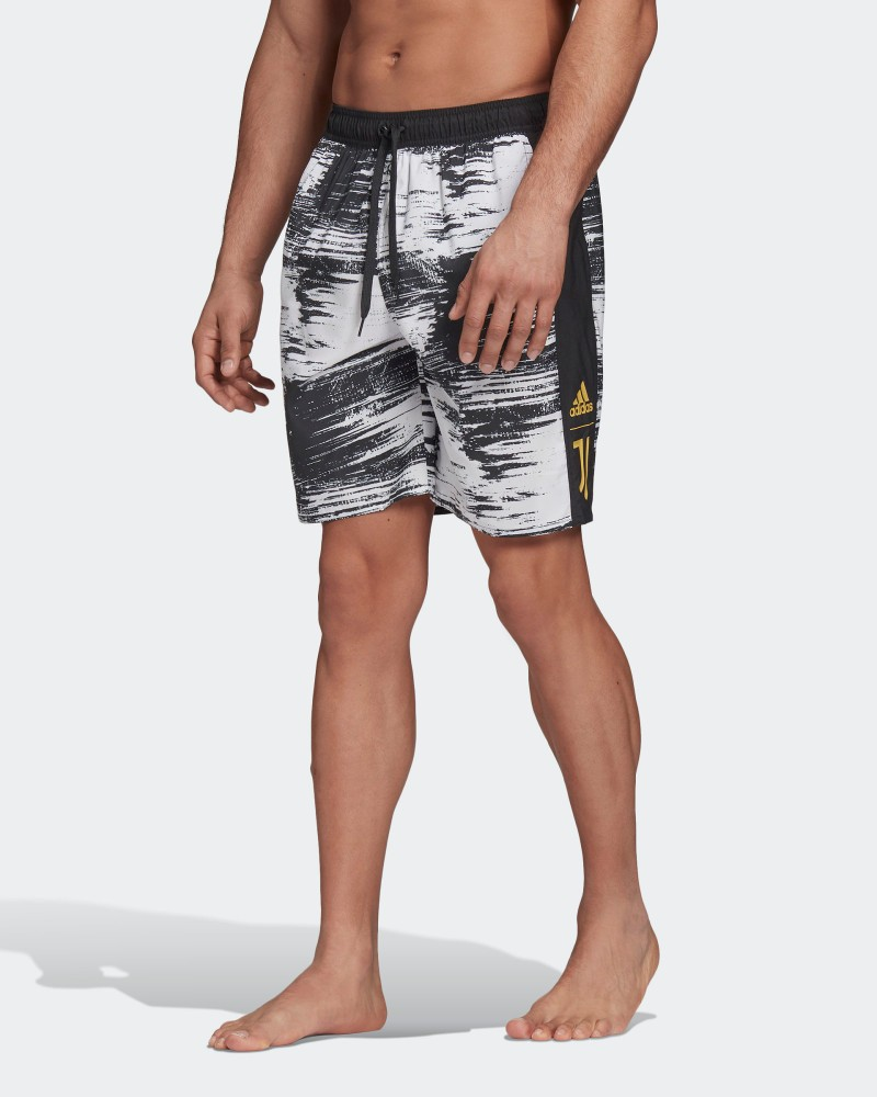 Juventus Adidas Costume da bagno mare Pantaloncini Shorts UOMO Bianco Nero 0