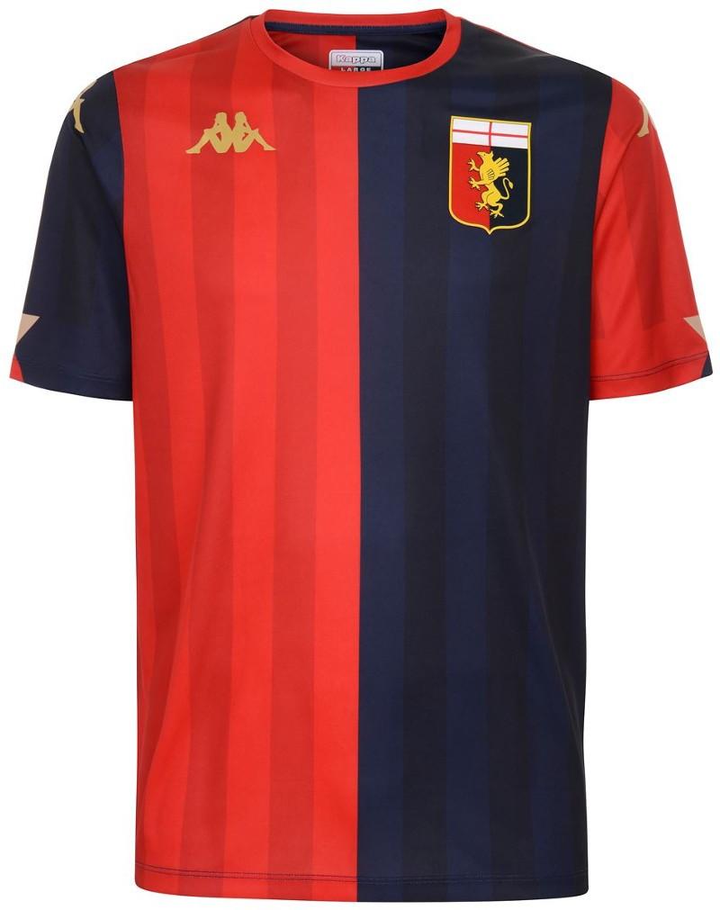 Genoa Kappa KOMBAT EXTRA Maglia Calcio UOMO 2020 21 Rosso Blu 100% poliestere 0