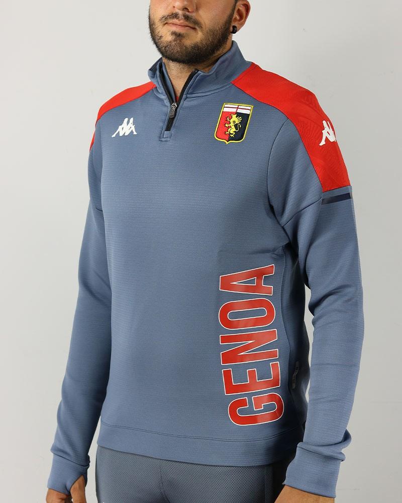 Genoa Kappa Felpa Allenamento Training Sweatshirt ABLAS PRO 4 Mezza zip Grigio 0