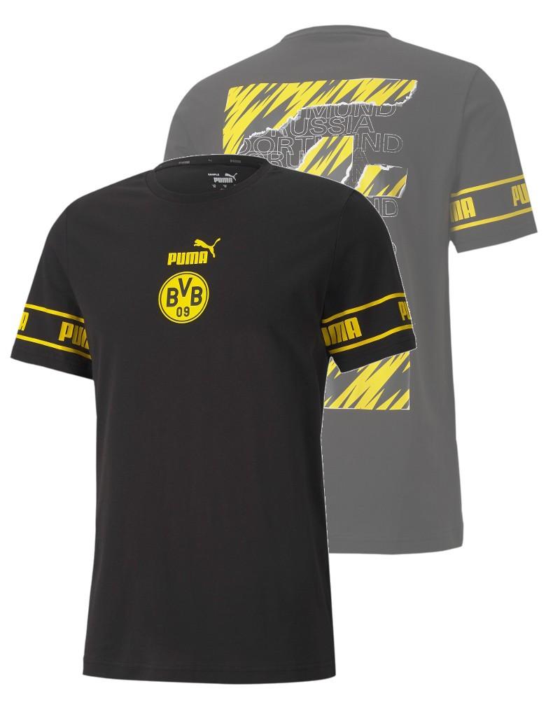 Borussia Dortmund BVB Puma Maglia Maglietta T-shirt FTBL CULTURE UOMO Normale 0