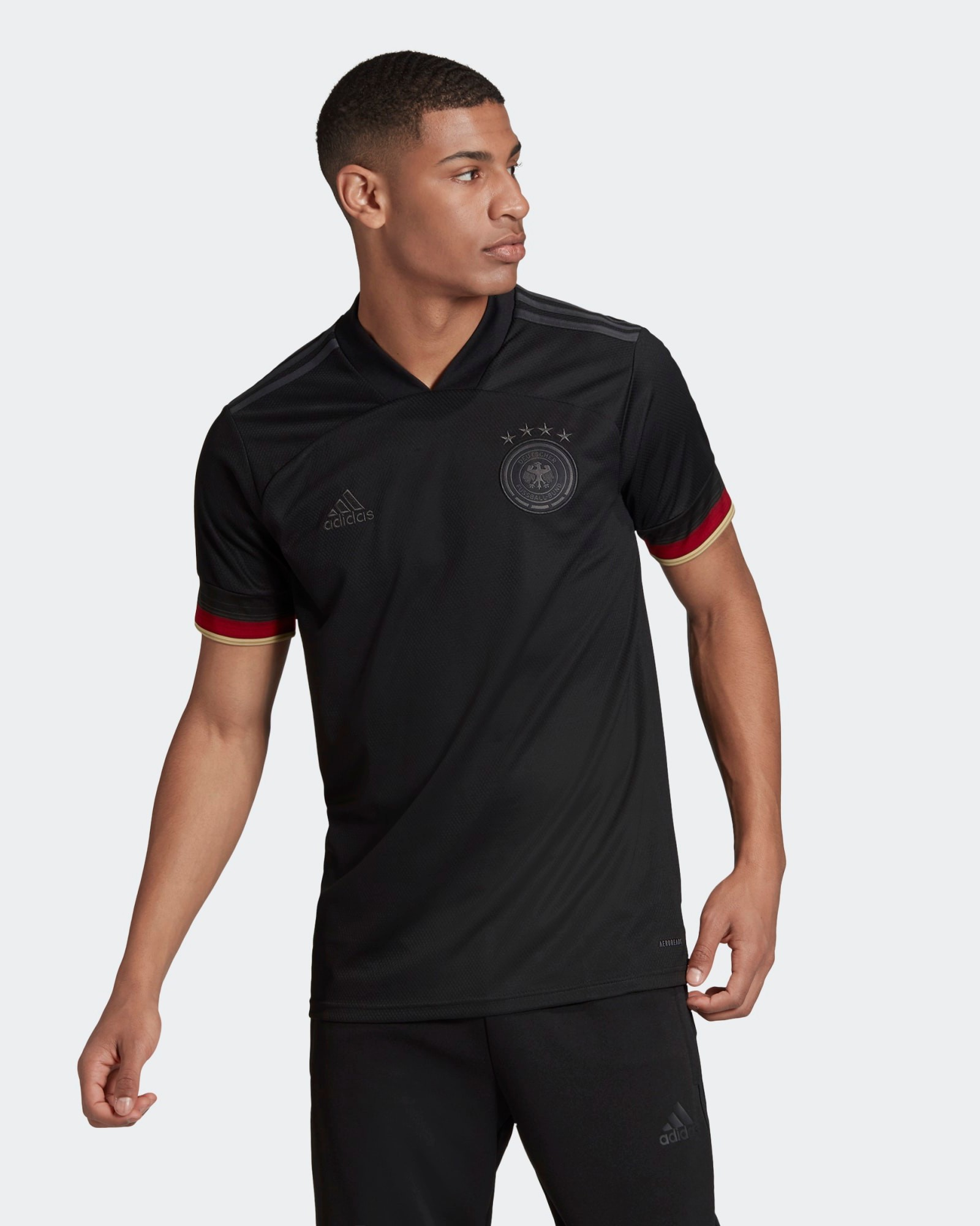 Germania DFB Adidas Maglia Shirt Nero poliestere AEROREADY Away EURO 2021 0