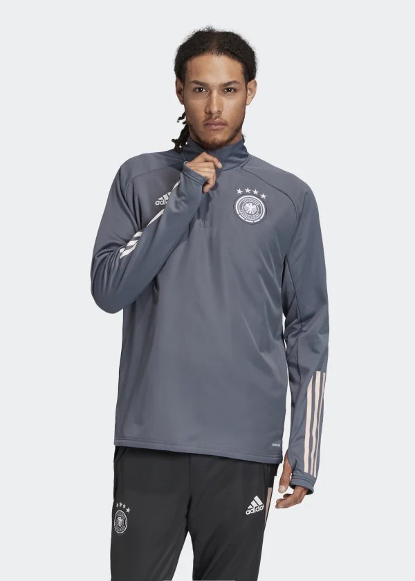 Germania Germany Adidas Felpa Allenamento Warm Top Mezza zip Antracite Uomo 0