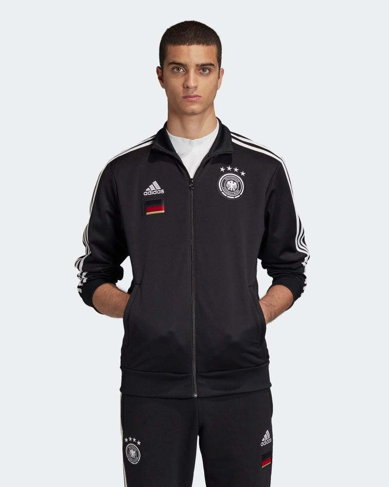 Germania DFB Adidas Giacca Tuta sportiva EURO 2021 UOMO Nero con TASCHE a ZIP 0