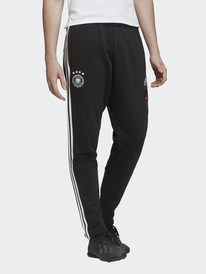 Germania DFB Adidas Pantaloni tuta Pants EURO 2021 3 stripes Nero UOMO Home 0