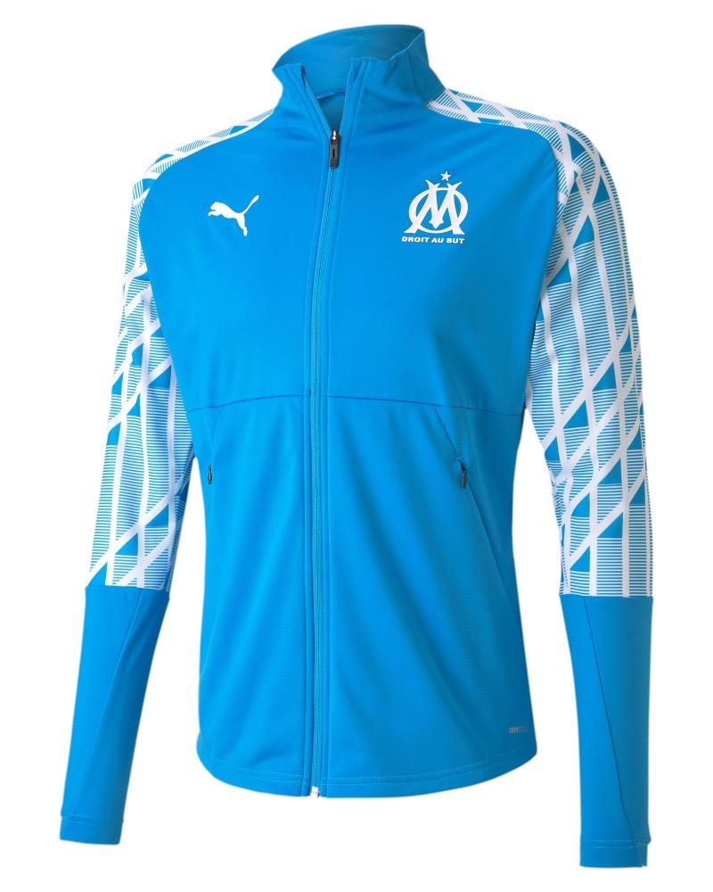 Marsiglia OM Olympique Puma Giacca Tuta Jacket Stadium Pre Match UOMO Blu 0