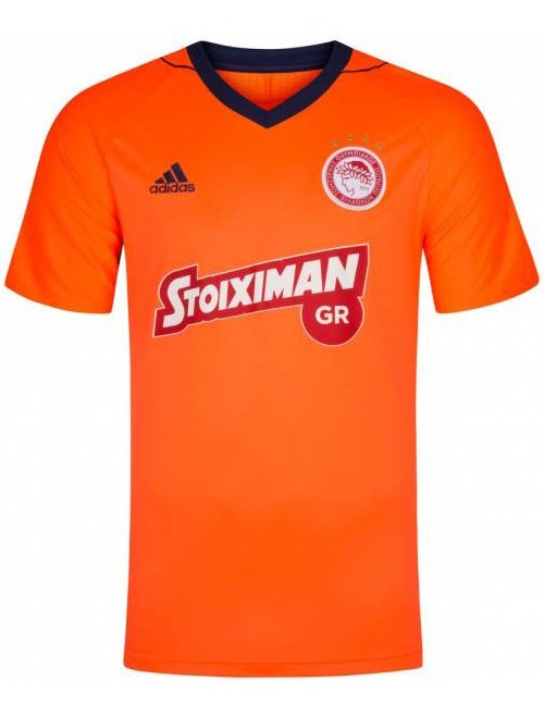 OLYMPIACOS OFC Adidas Maglia Shirt Match UOMO Arancione Climacool 2017 18 Away 0