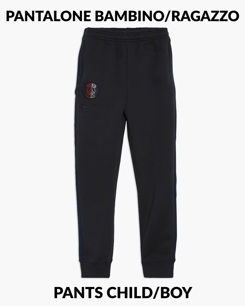 PSG Nike Pantaloni tuta Pants 2019 20 Graphic Fleece Grigio Bambino Cotone 0