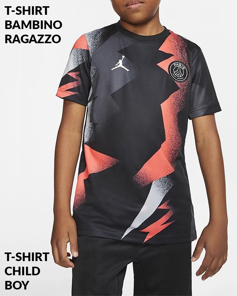 PSG Nike Maglia Allenamento Training Bambino Ragazzo Nero 2019 20 0