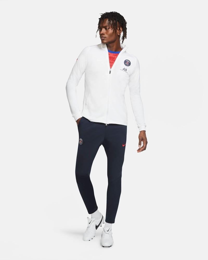 PSG Nike Tuta Allenamento Training 2020 21 Bianco 100% poliestere Dri-Fit 0