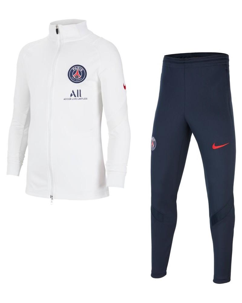 PSG Nike Tuta Allenamento Training 2020 21 Ragazzo Bianco Dry Strike 0
