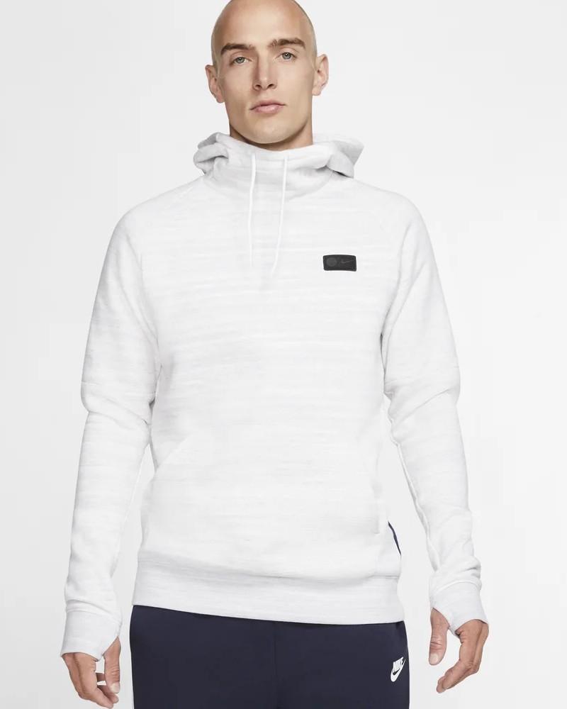 PSG Nike Felpa Cappuccio Hoodie 2020 Pullover Sportswear Bianco 0