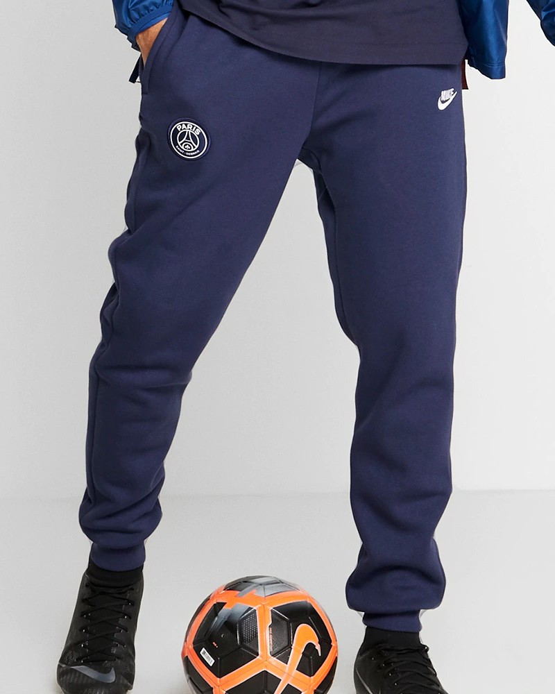 PSG Nike Pantaloni tuta Pants Fleece Sweat Cuff 2019 20 Blu Uomo Cotone 0