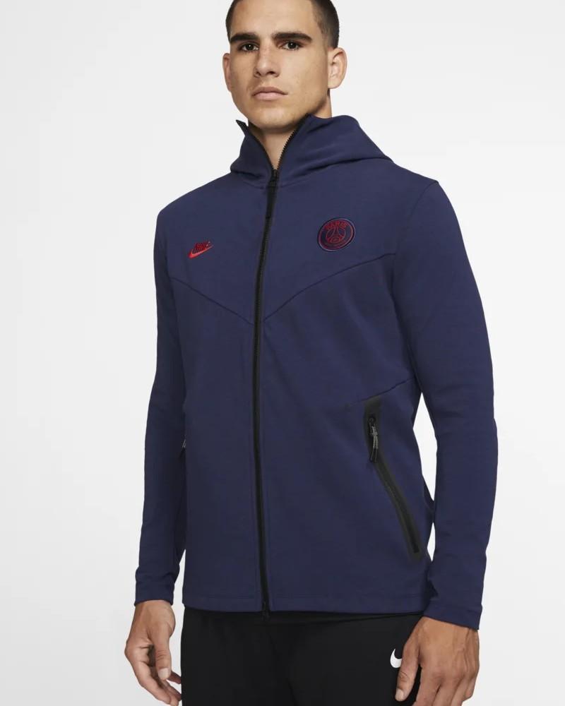 PSG Nike Giacca Sportiva Sport Jacket 2019 20 Tech Pack Blu Cotone 0