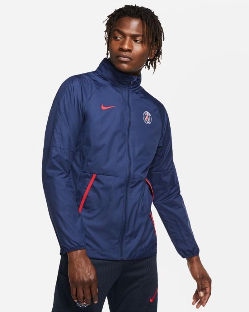 PSG Nike Academy AWF Giacca anti Vento Pioggia UOMO Blu 2020 21 0