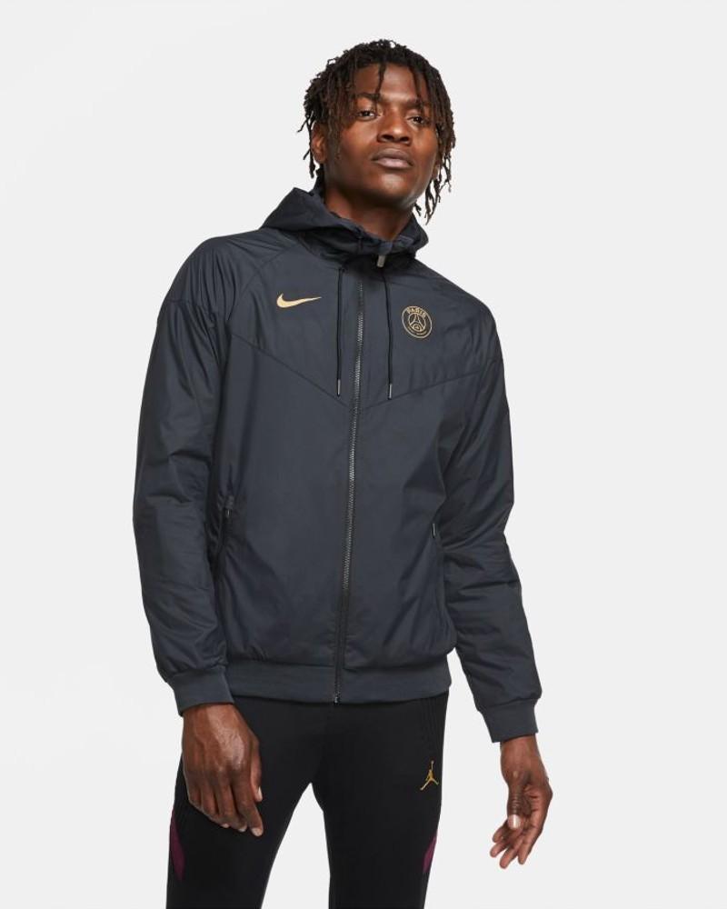 PSG Nike Giacca sportiva vento pioggia UOMO Nero 2020 21 Windrunner 0