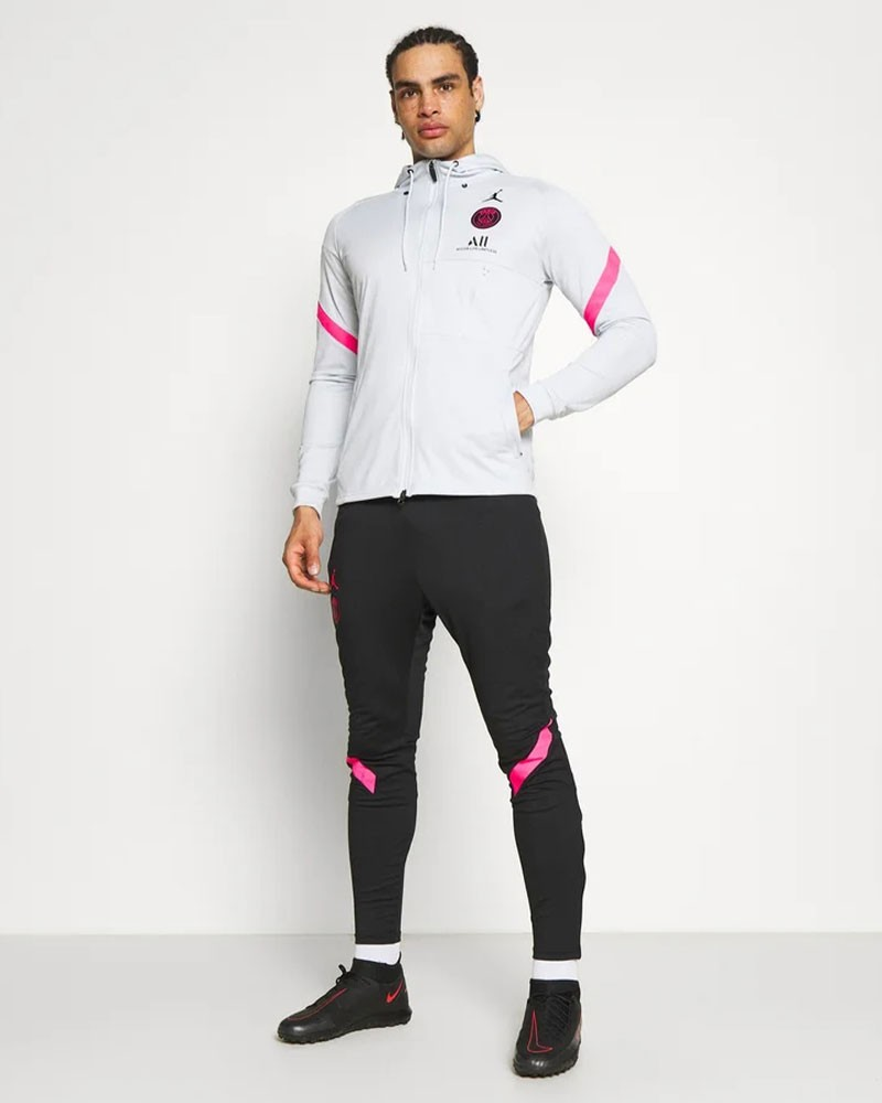 PSG Nike Tuta Intera Allenamento Cappuccio Dry Strike Bianco 2021 0