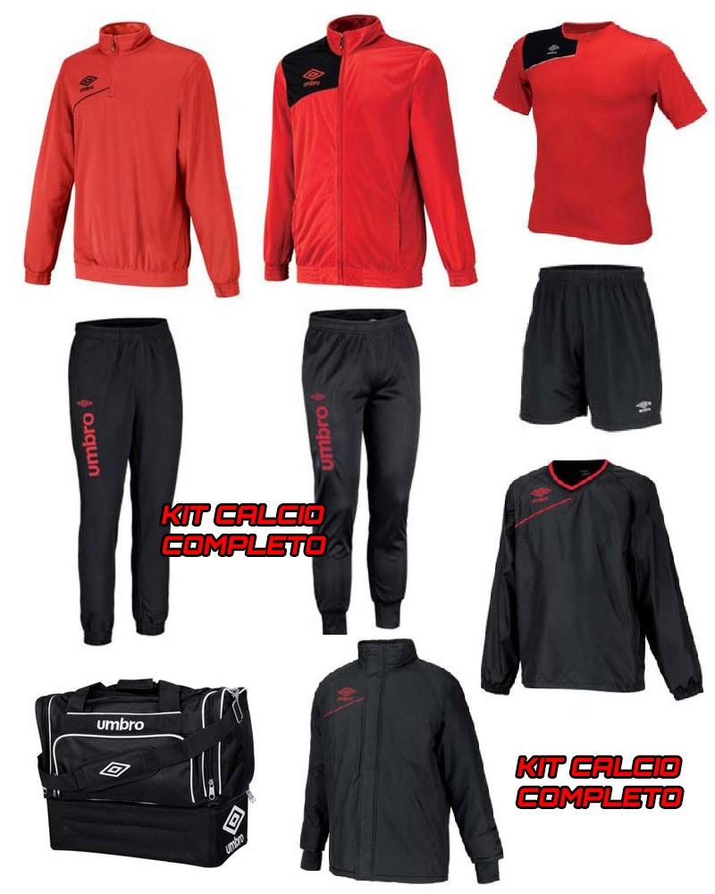Kit fornitura calcio squadre gara Kit fornitura calcio squuadre Rosso Nero 2020 0