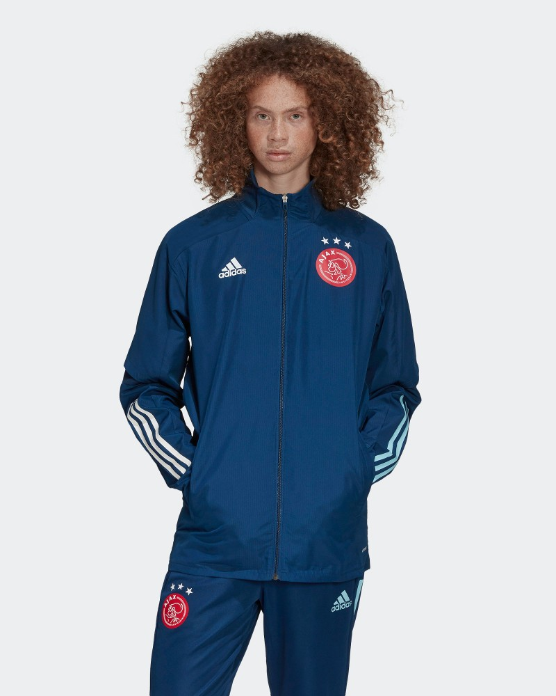 Ajax Amsterdam Adidas Giacca tuta rappresentanza 2020 21 Presentation UOMO Blu 0