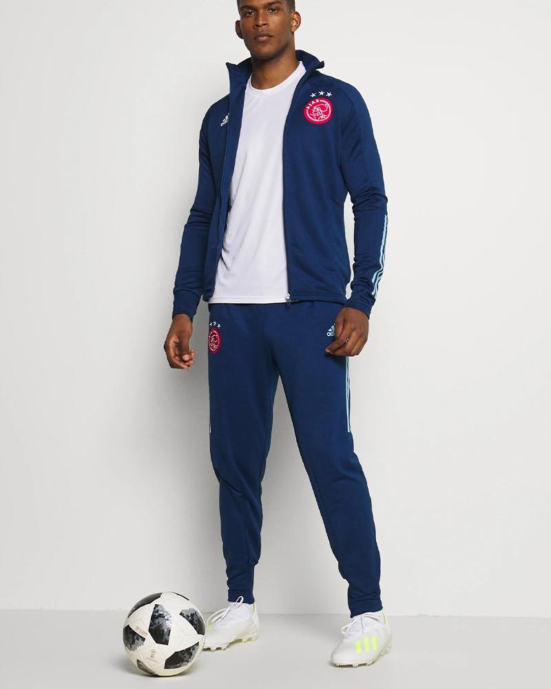 Ajax Amsterdam Adidas Tuta Allenamento Training UOMO Blu AEROREADY 2020 21 0
