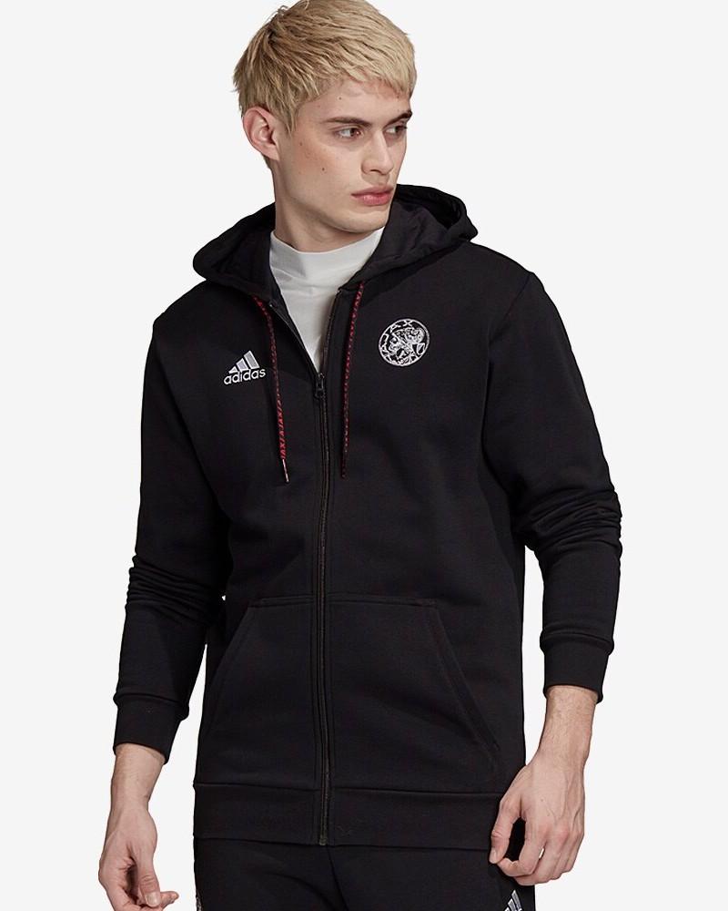 Ajax Amsterdam Adidas Giacca felpa sportiva 2020 21 3S HD FZ Cappuccio UOMO 0