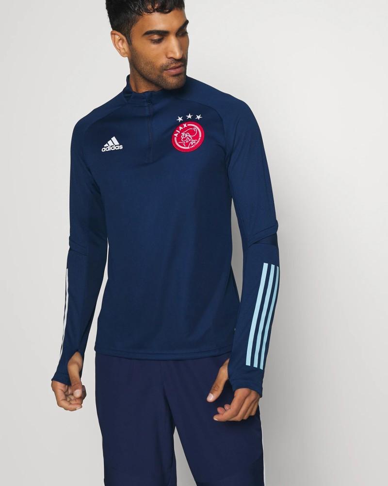 Ajax Amsterdam Adidas Felpa Allenamento Training Sweatshirt UOMO 2020 21 Blu 0