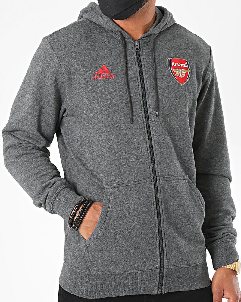 Arsenal Fc Adidas Giacca tuta felpa sportiva cappuccio 2020 21 3S HD FZ UOMO 0