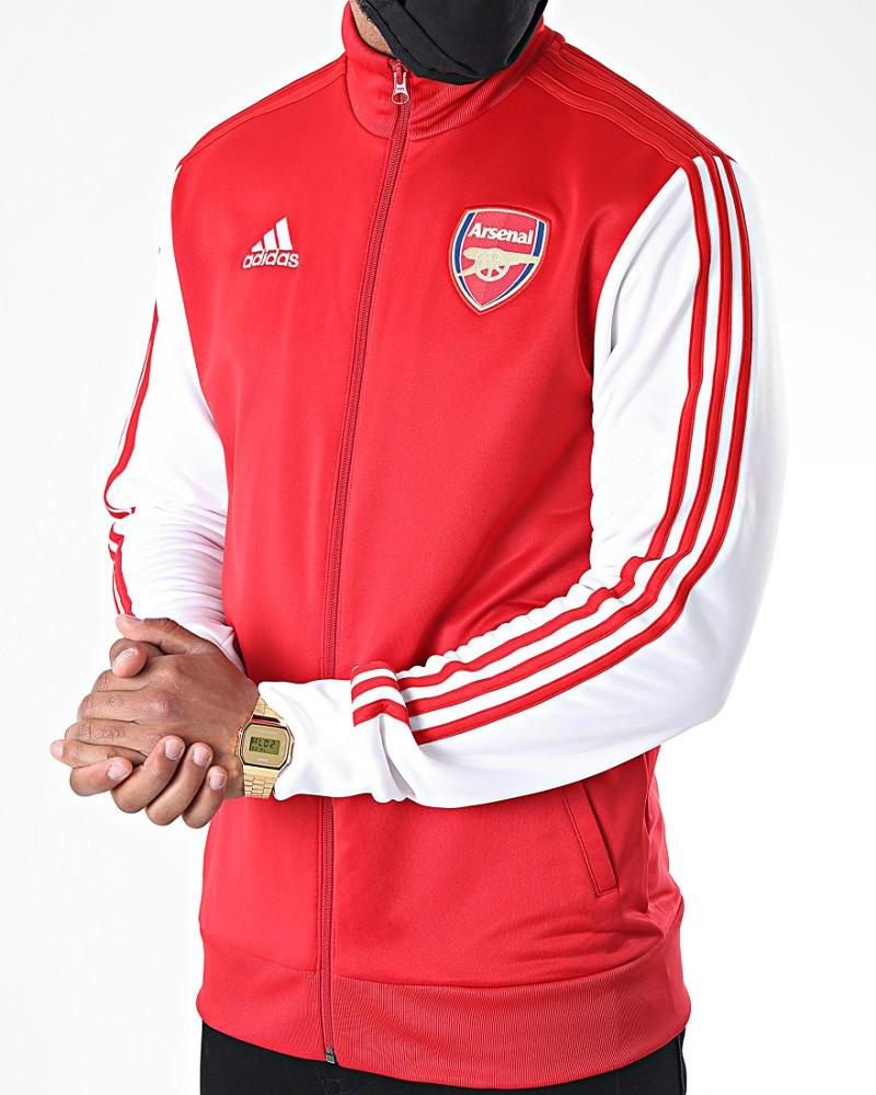 Arsenal Fc Adidas Giacca tuta sportiva 2020 21 Track Top 3 Stripes UOMO Rosso 0