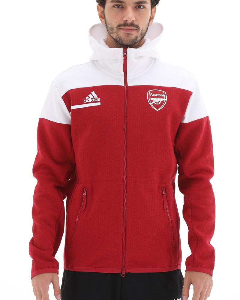 Arsenal Fc Adidas Giacca Allenamento Training 2020 21 Zone Pre match Rosso 0