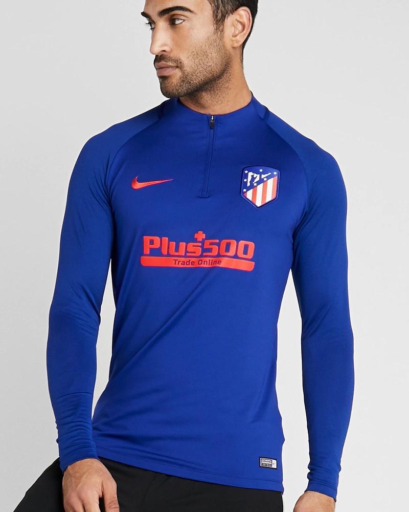 Atletico Madrid Nike Felpa Allenamento Training Sweatshirt Uomo 2020 Blu 0