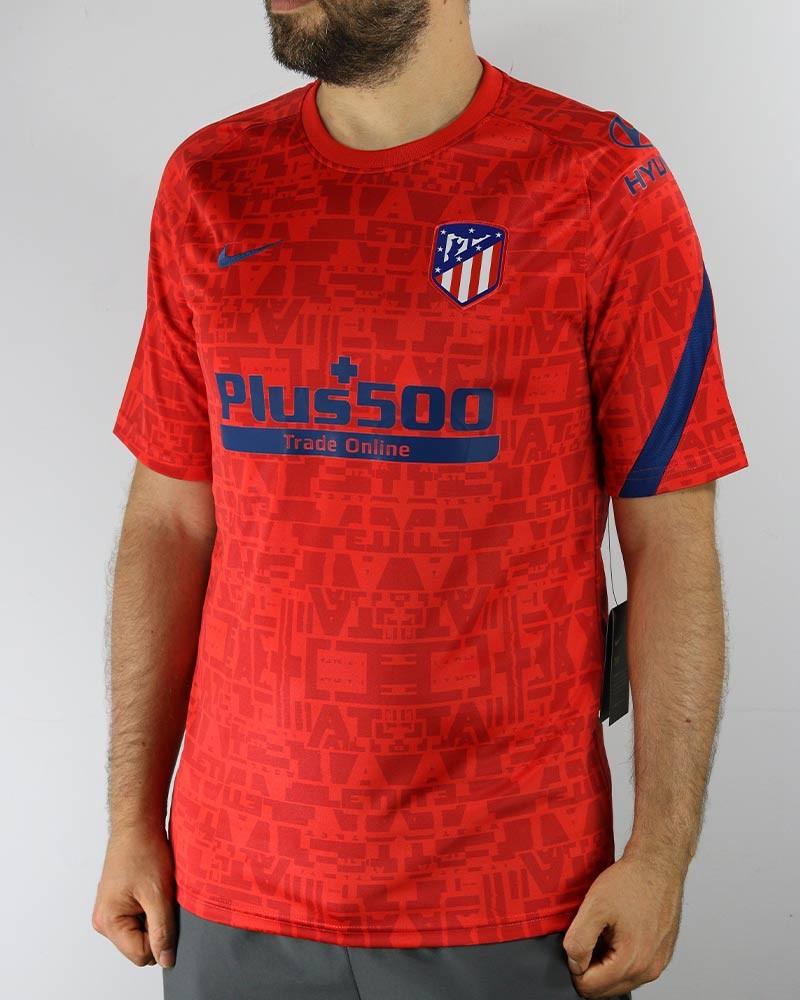 Atletico Madrid Nike Maglia Allenamento Training pre match Top UOMO Rosso 0