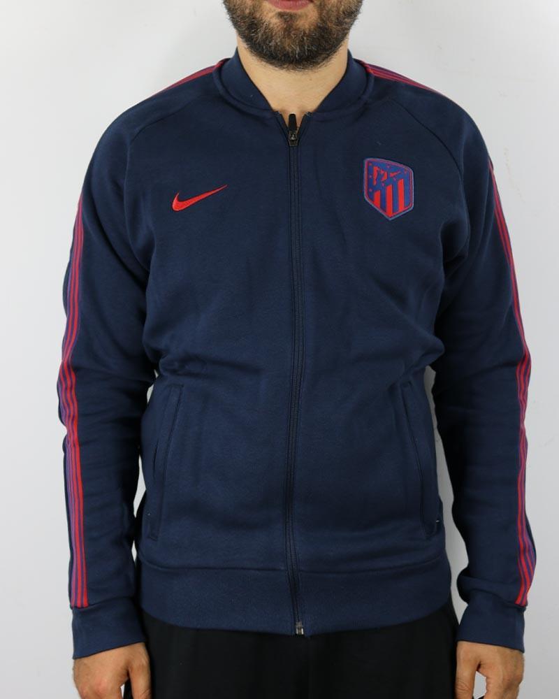 Atletico Madrid Nike Giacca Tuta Sportiva UOMO Blue Cotone 2020 21 Fleece 0