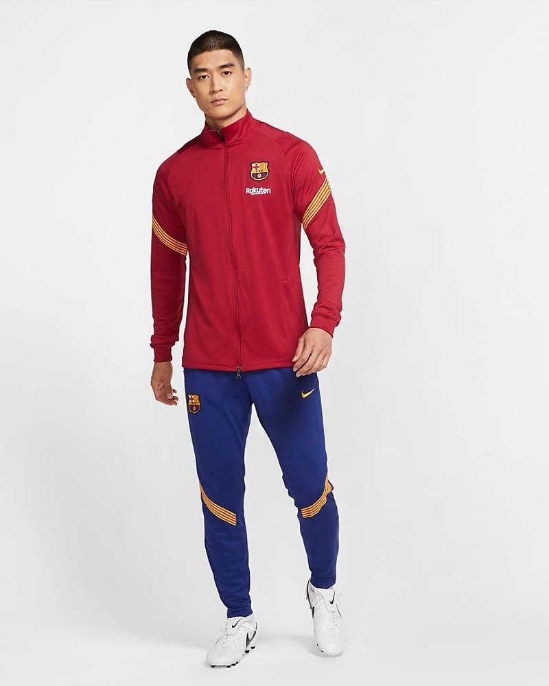 Barcellona Nike Tuta Allenamento Training 2020 21 Dry Strike UOMO Rosso 0
