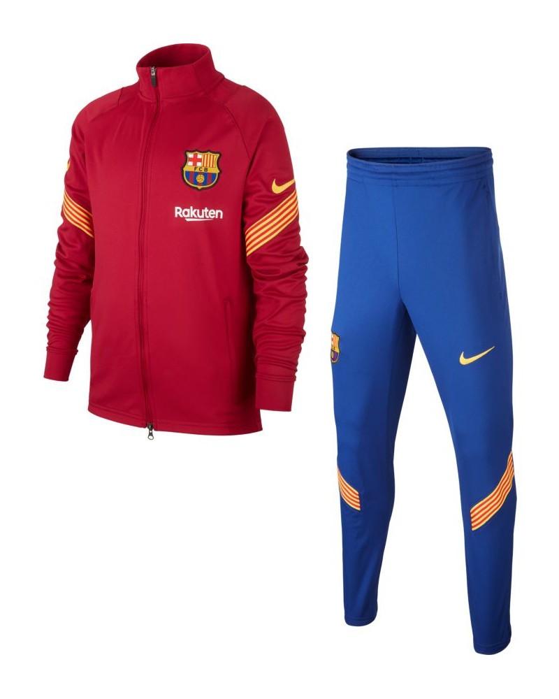 Barcellona Nike Tuta Allenamento Training 2020 21 Polsini a Costine Ragazzo 0