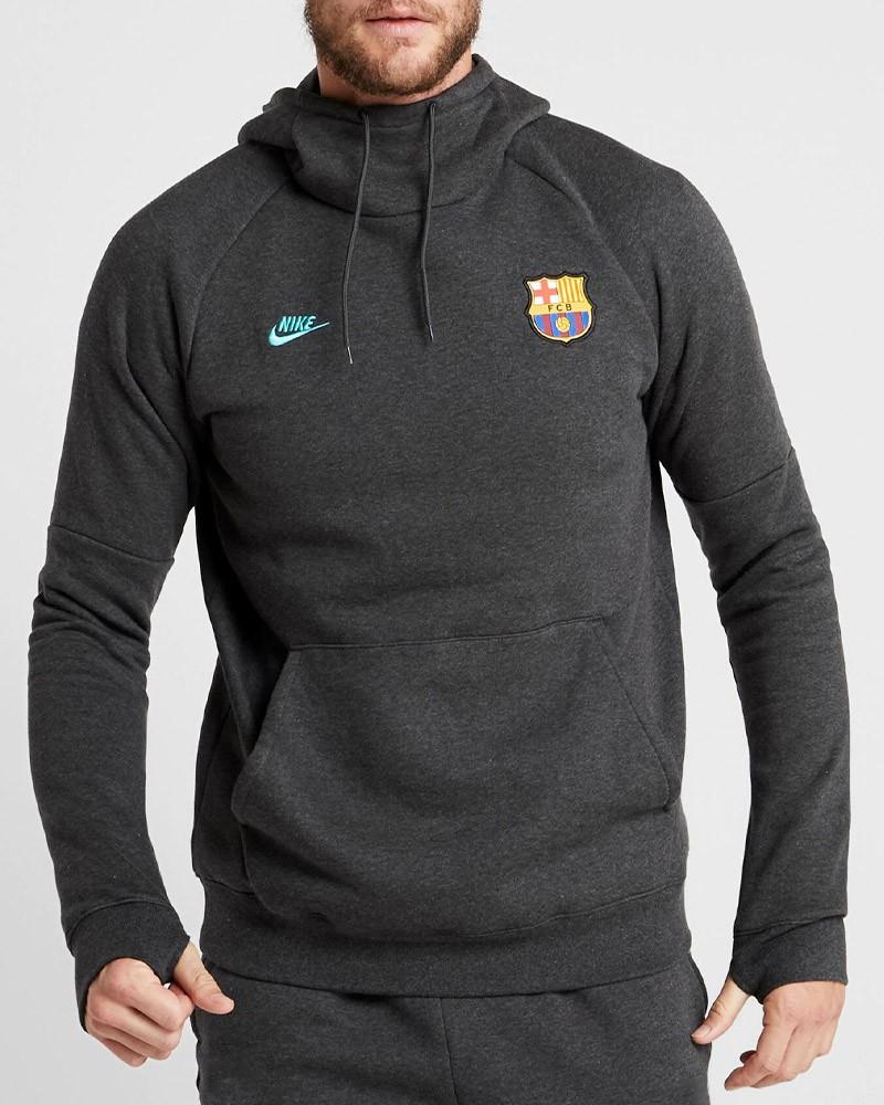 Barcellona Nike Felpa Cappuccio Hoodie Normale Pullover Sportswear 2019 20 Uomo 0