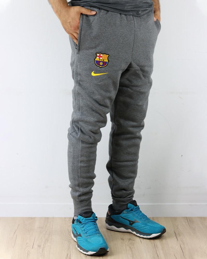Barcellona Nike Pantaloni tuta Pants UOMO con TASCHE a ZIP Grigio Cotone 0