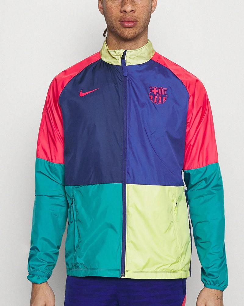 Barcellona Nike Giacca anti Vento Pioggia UOMO Multicolor 2021 Academy AWF 0
