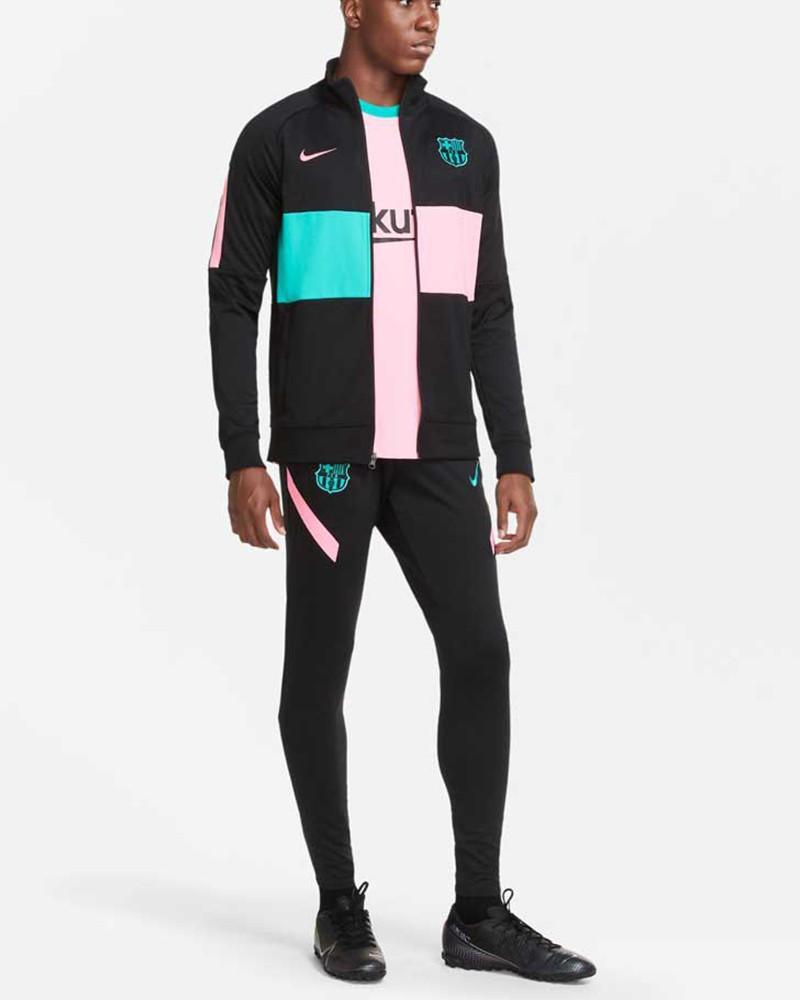 Barcellona Nike Tuta Intera 2020/21 PRE MATCH L96 Anthem UOMO Nero 0