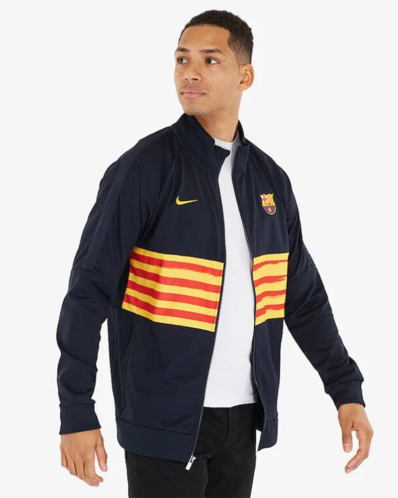 Barcellona Nike Giacca Tuta pre gara Jacket Uomo L96 2020 Blue 0