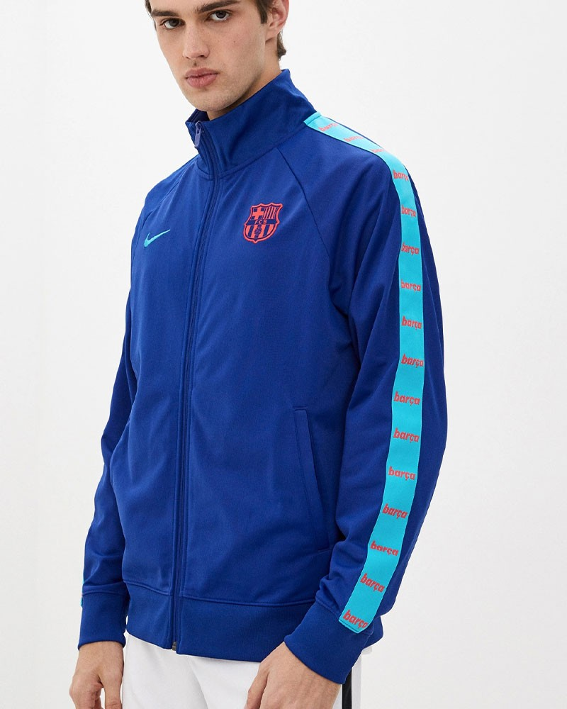Barcellona Nike Giacca Tuta sportiva Jacket UOMO Blu 2021 JDI 0
