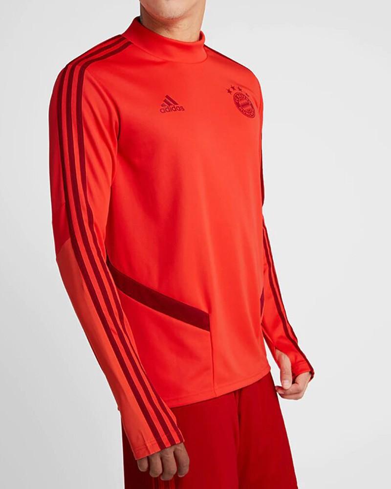 Bayern Monaco Adidas Felpa Allenamento Training Sweatshirt Rosso Uomo 2019 20 0