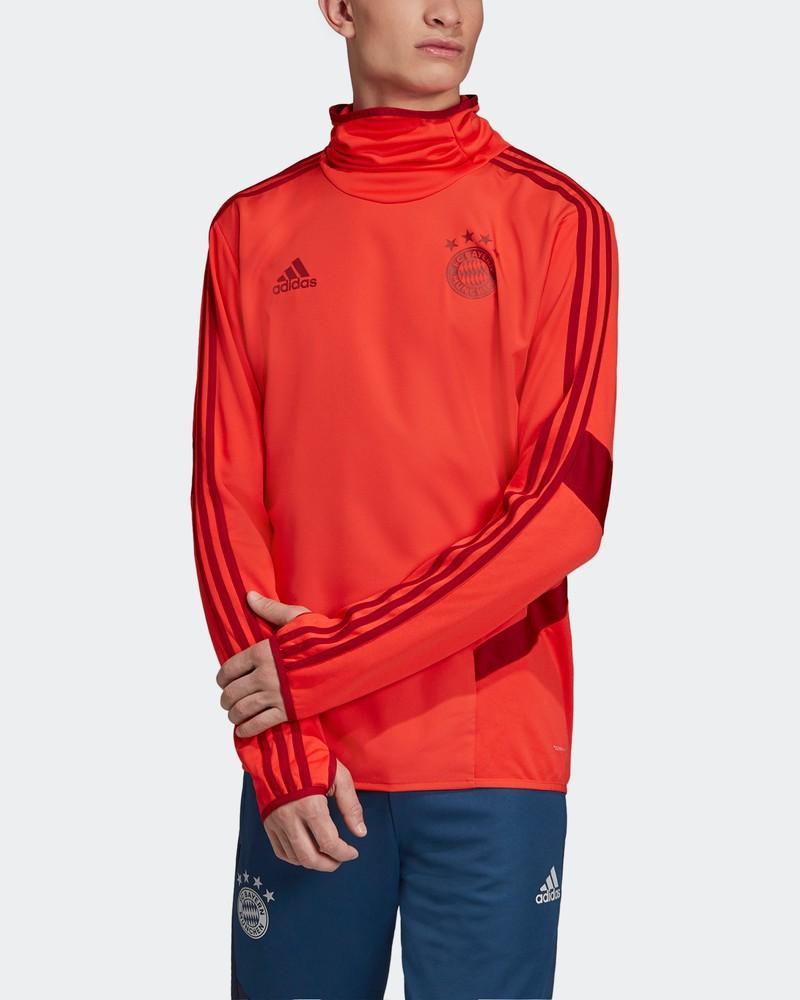 Bayern Monaco Adidas Felpa Allenamento Warm Top Rosso Uomo 2019 20 Climawarm 0