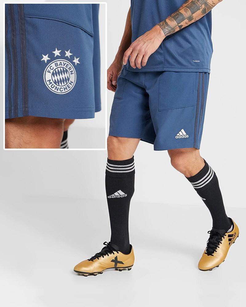 Bayern Monaco Adidas Pantaloncini Shorts Uomo Blu 2019 20 Woven 0