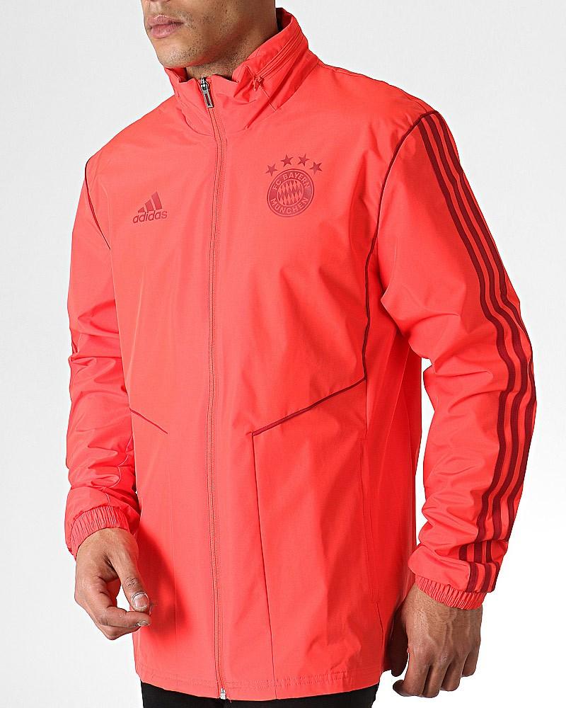 Bayern Monaco Adidas Giacca Vento Pioggia All weather Rosso 2019 20 0