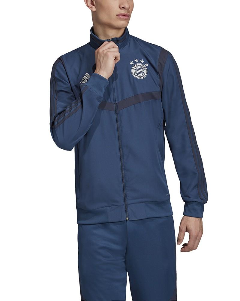 Bayern Monaco Adidas Giacca Rappresentanza Pres Jacket 2019 20 Blu 0