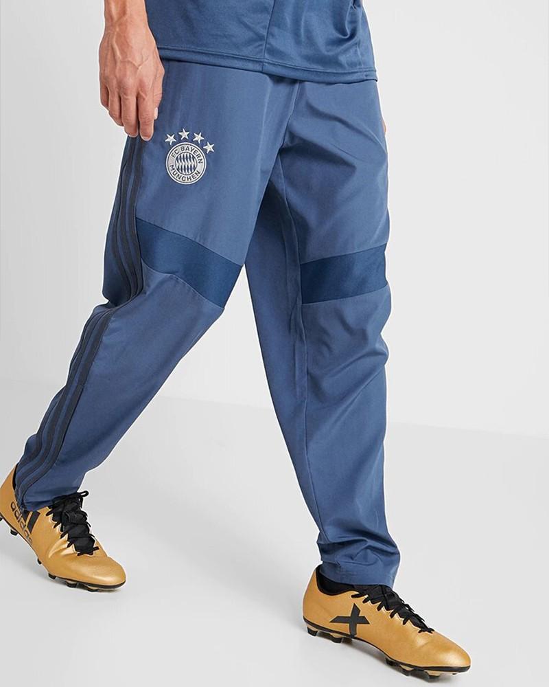 Bayern Monaco Adidas Pantaloni tuta Pants Woven Blu Uomo con TASCHE a ZIP 0