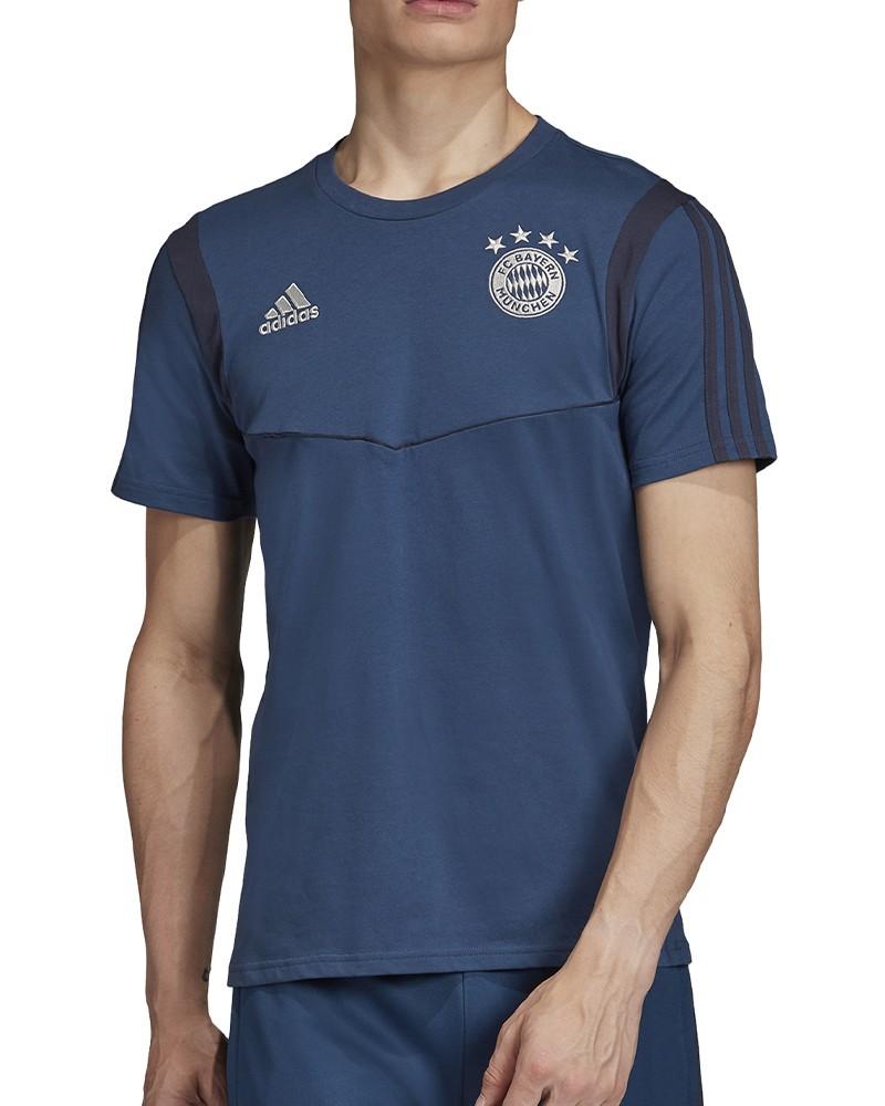 Bayern Monaco Adidas Maglia Allenamento Training Tee Uomo Blu 2019 20 Cotone 0