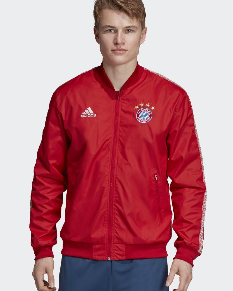 Bayern Monaco Adidas Giacca Tuta Pre Gara Pre Match 2019 20 Rosso Anthem 0
