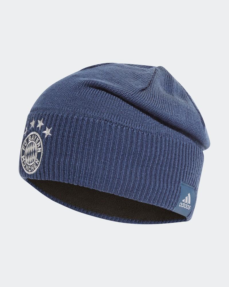 Bayern Monaco Adidas Cappello invernale lana cuffia BEANIE tg UomoUnisex Blu 0