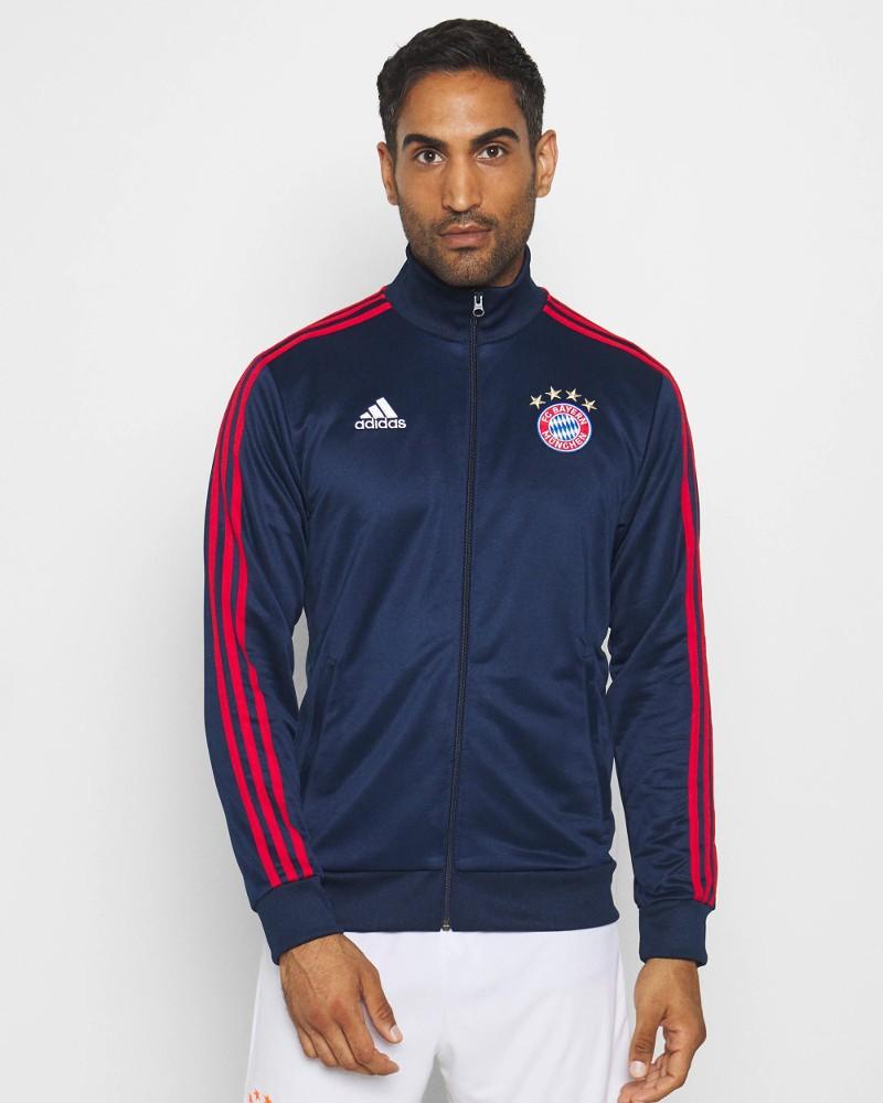Bayern Monaco Adidas Giacca sportiva tuta 2020 21 Track Top 3 Stripes UOMO Blu 0